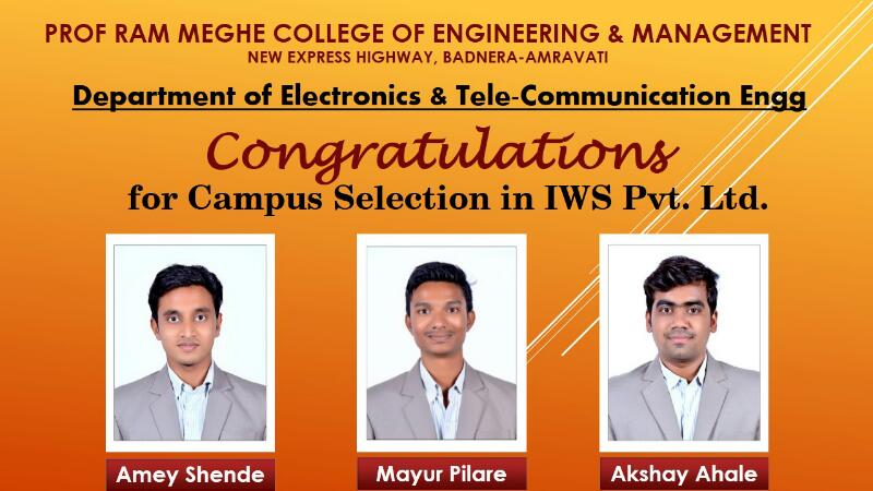 IWS placed Students 2017